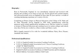 Soccer Coach Resume Sample by Professional Soccer Player Resume Reentrycorps