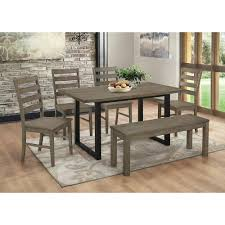 walker edison furniture company madison 6 piece aged grey wood