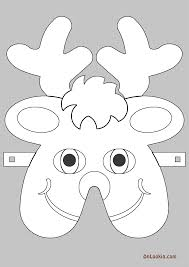 reindeer santa face mask cut out free wallpaper