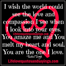 Love Quotes Marriage by I Wish The World Could See The Love And Compassion I See When I