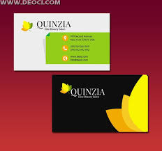 leaves creative business card design template elements psd