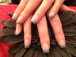 gel nails with blue gelish gel polish on tips nail designs for you