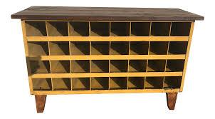 steampunk furniture industrial steampunk cabinet wine shoe rack bench chairish