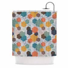 Kess Shower Curtains Biomolecular Shower Curtain By Maike Thoma Kess Inhouse