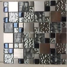 kitchen backsplash stainless backsplash panel stainless steel kitchen backsplash silver backsplash kitchen metal look tile