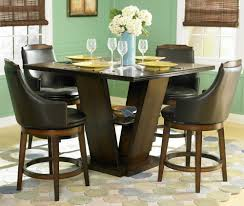 homelegance bayshore square pedestal counter height table in oak