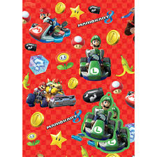 kids wrapping paper mario wrapping paper tags party supplies