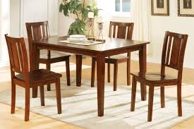 5 piece dining table set cherry finish huntington beach furniture