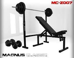 Weights And Bench Set Magnus Design Manufacturer And Distributor Sports Equipment Nr1
