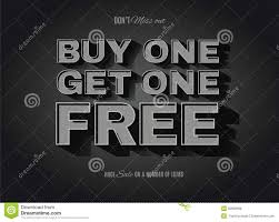 old movie style bogo buy one get one free sign stock illustration