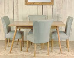Retro Style Kitchen Table Retro Styled Solid Mango Wood Dining Table And Four Upholstered Chairs