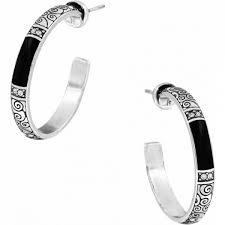 black hoop earrings wiltern wiltern post hoop earrings earrings