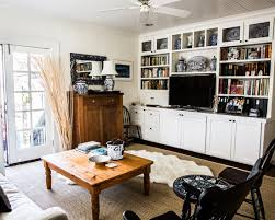 Tv Stands With Bookshelves by Chic Home Inspirations With Colonial Design Fabulous Family Room