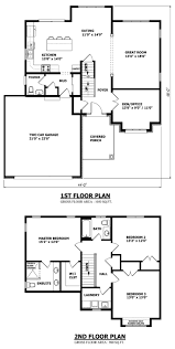 2 Story 4 Bedroom Floor Plans by Contemporary Two Story Home Floor Plans