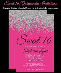 sweet 16 invitations hot pink and silver sweet 16 invitations quinceanera invitation