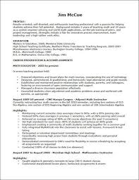 On The Job Training Resume by Resumes Samples For Teachers Pdf Resume Format Resume Template