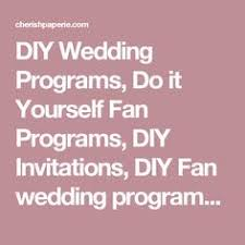 Wedding Program Templates Fans Printable Wedding Program Template Fan Wedding By Vinewedding