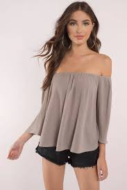 shoulder blouse taupe blouse shoulder blouse taupe blouse 24 tobi us