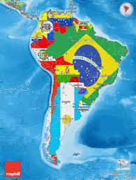 Political Map Of Latin America Flag Map Of South America Political Outside