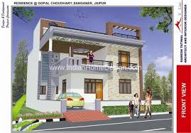 Home Design 3d Pics Modern North Indian Style 3d House Exterior Views