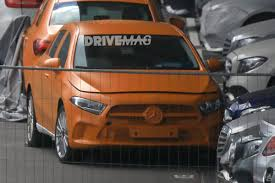 orange mercedes next generation mercedes benz a class spied completely undisguised