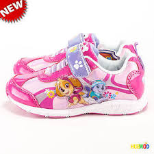 paw patrol light up sneakers paw patrol girls flower run light up pink purple sneakers shoes