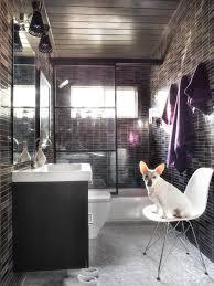Small Modern Bathroom Ideas Bathroom by Small Bathroom With Dark Grey Tiles Small Space Bathroom Ideas