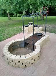 Fire Pit Keyhole Fire Pit With Adjustable Grille Camping Tips And Tricks