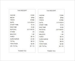 Comfort Maxi Cab Charges Taxi Receipt Template 16 Free Word Excel Pdf Format Download