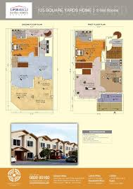 home layout design floor plans of 125 and 200 sq yards bahria homes karachi