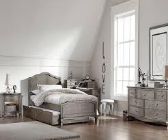 kensington silver finish nightstand 30530 ne kids furniture