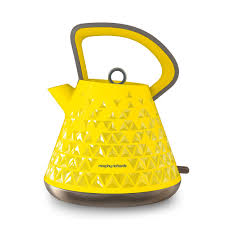 Orange Kettle And Toaster Prism 108108 Prism Kettle In Yellow By Morphy Richards Kitchen