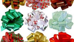 gift wrap pull bows 5 wide set of 9 green