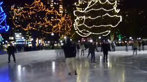 skaters at frog pond in the boston common youtube