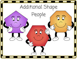 three additional shape people pentagon hexagon and octagon