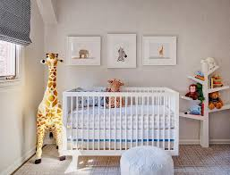 boy nursery with faux bois wallpaper and baletto spruce tree with