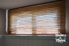 Blinds For Basement Windows by Basement Bamboo Blinds Diy Hack Madness U0026 Method