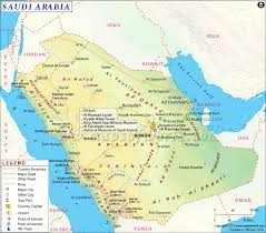 Where Is India On The Map by Saudi Arabia Map Map Of Saudi Arabia
