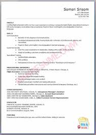 Resume Sample Bilingual Skills by Flight Attendant Resume Sample With No Experience Free Resume