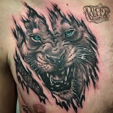 tiger skin rip by howard neal tattoonow