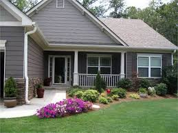 image of front yard landscaping ideas for ranch style homes