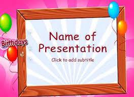 gift birthday powerpoint template