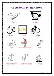 printable instructions classroom classroom instructions 1 worksheet free esl printable worksheets
