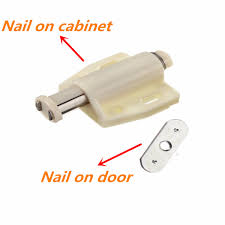 4 pcs open magnetic door drawer cabinet latch catch touch kitchen