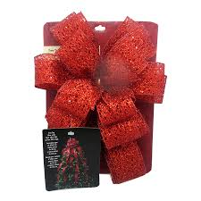 shop holiday living 53 in red mesh polyester ribbon christmas tree