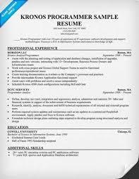 Computer Programmer Resume Objective About Sample Programmer Resumes