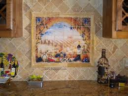 Kitchen Backsplash Mural Stone by Italian Tile Murals Tuscany Backsplash Tiles
