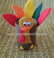 turkey favor made from toilet paper roll grandparentsplus
