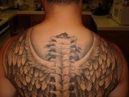 upper back tattoos of wings upper tattoo design images free