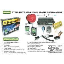 898g 2 way car alarm w remote engine auto start